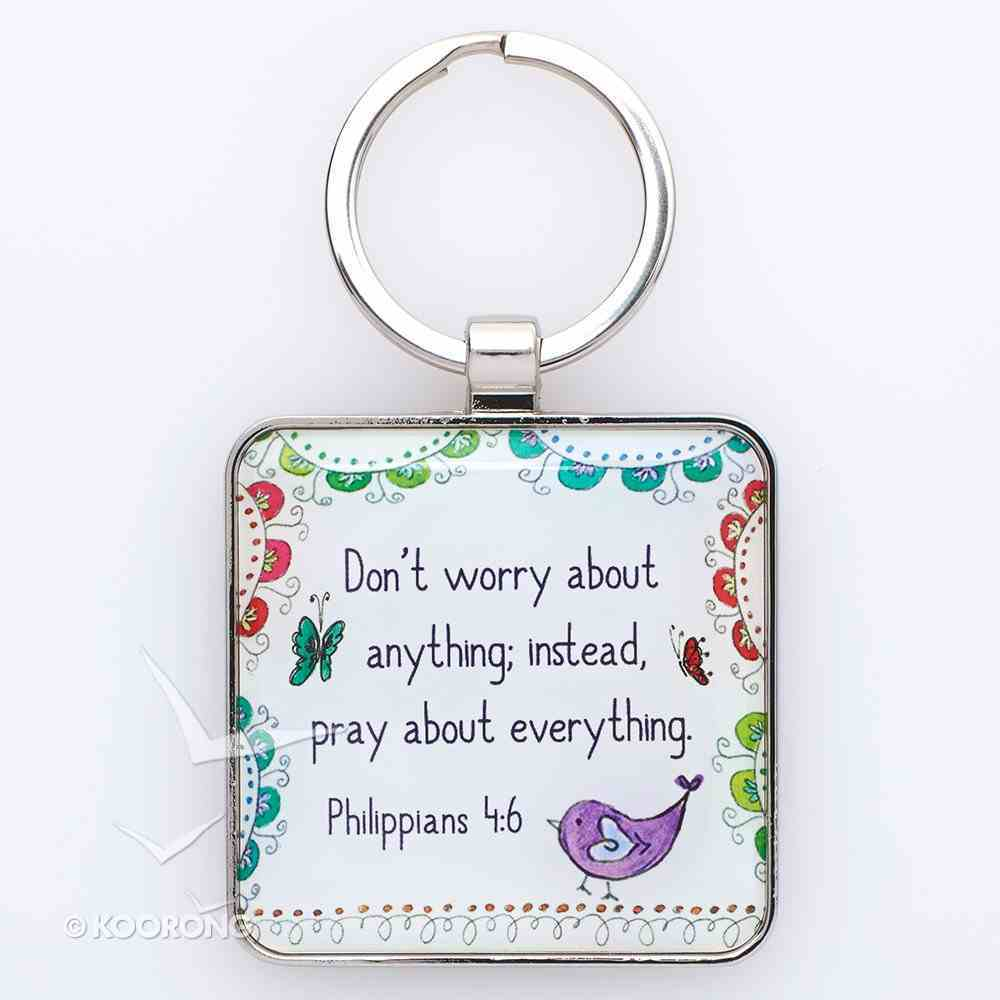 Metal Keyring: Trust in God (Phil 4:6) Novelty