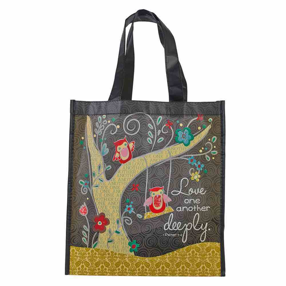 Non-Woven Tote Bag: Love One Another Deeply Soft Goods