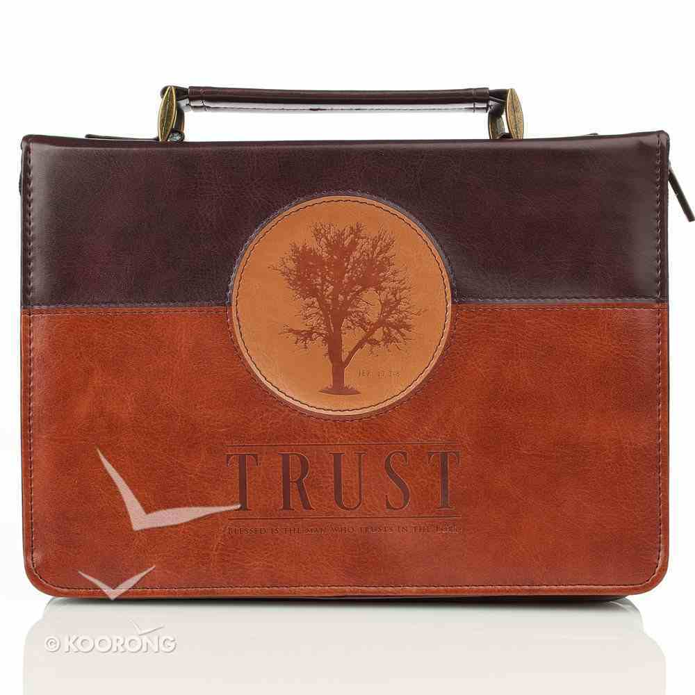 Bible Cover Classic Medium: Trust Jer. 17:7-8 Dark Brown/Brown/Tree Bible Cover