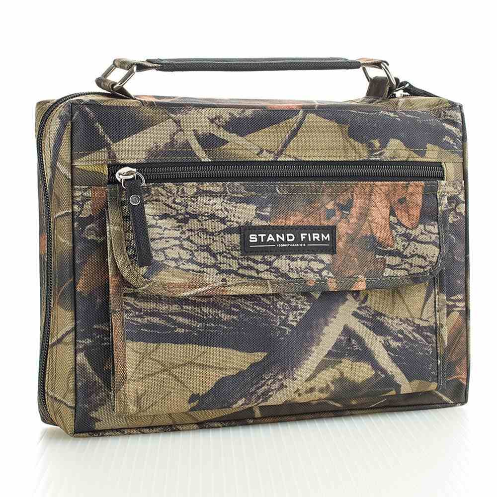 Bible Cover Value Medium: Stand Firm 1 Cor. 16:13 Canvas Camo Bible Cover