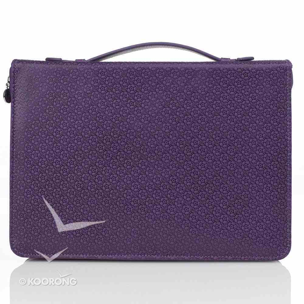 Bible Cover Large: Blessed Butterfly Jer. 17:7 Purple Fashion Trendy Luxleather Bible Cover