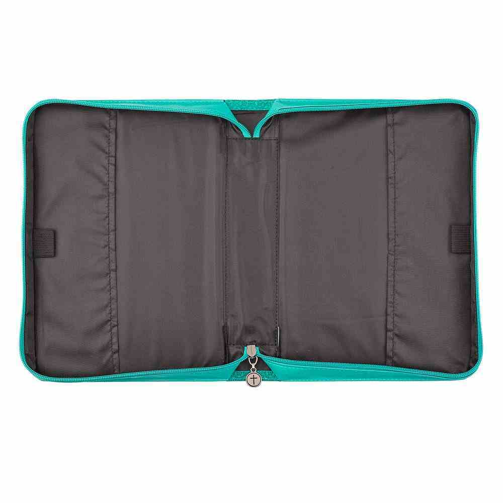 Bible Cover Medium: Grace Eph. 2:8 Butterfly Teal Luxleather Bible Cover