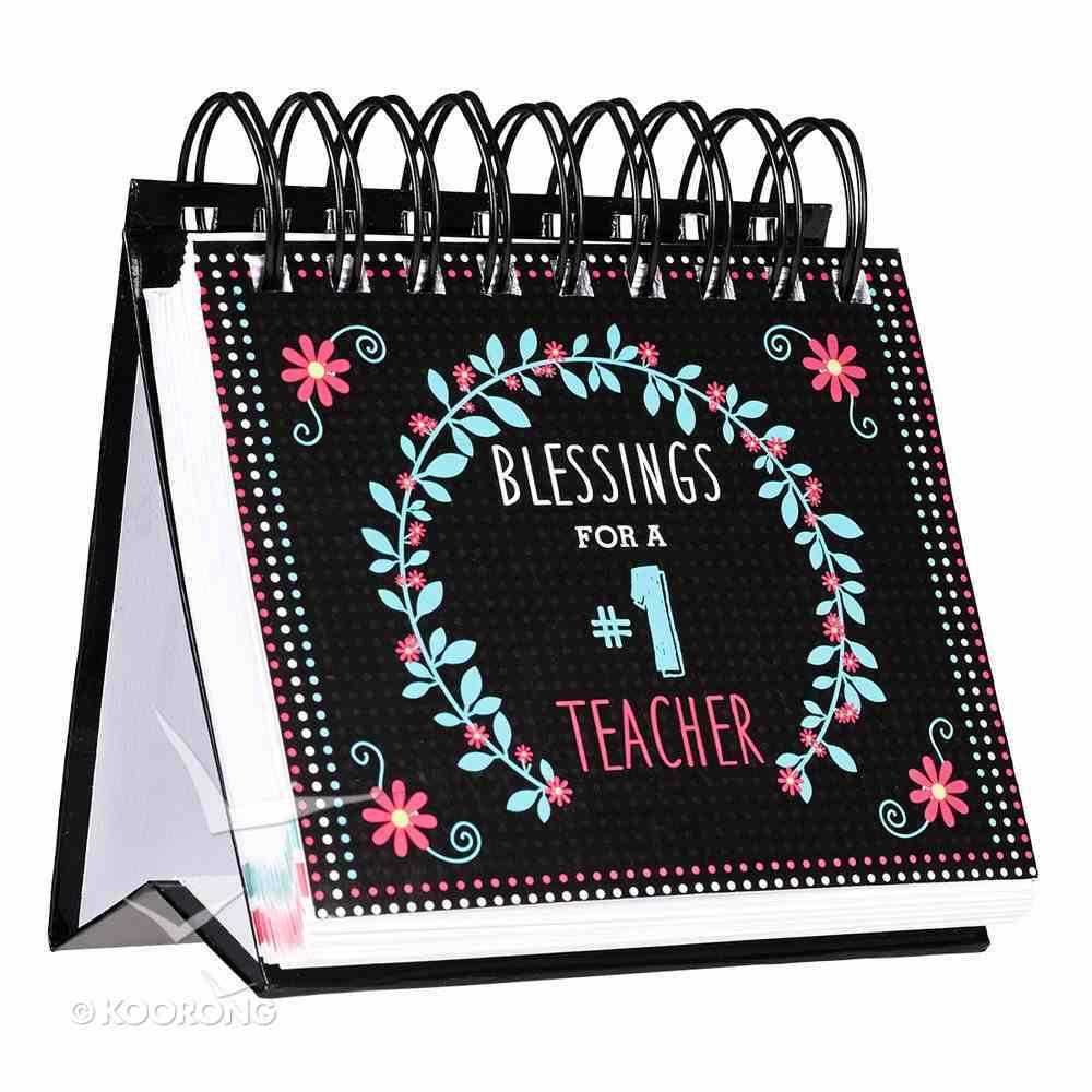 365 Perpetual Calendar: Blessings For a #1 Teacher, Black/Teal/Red Spiral