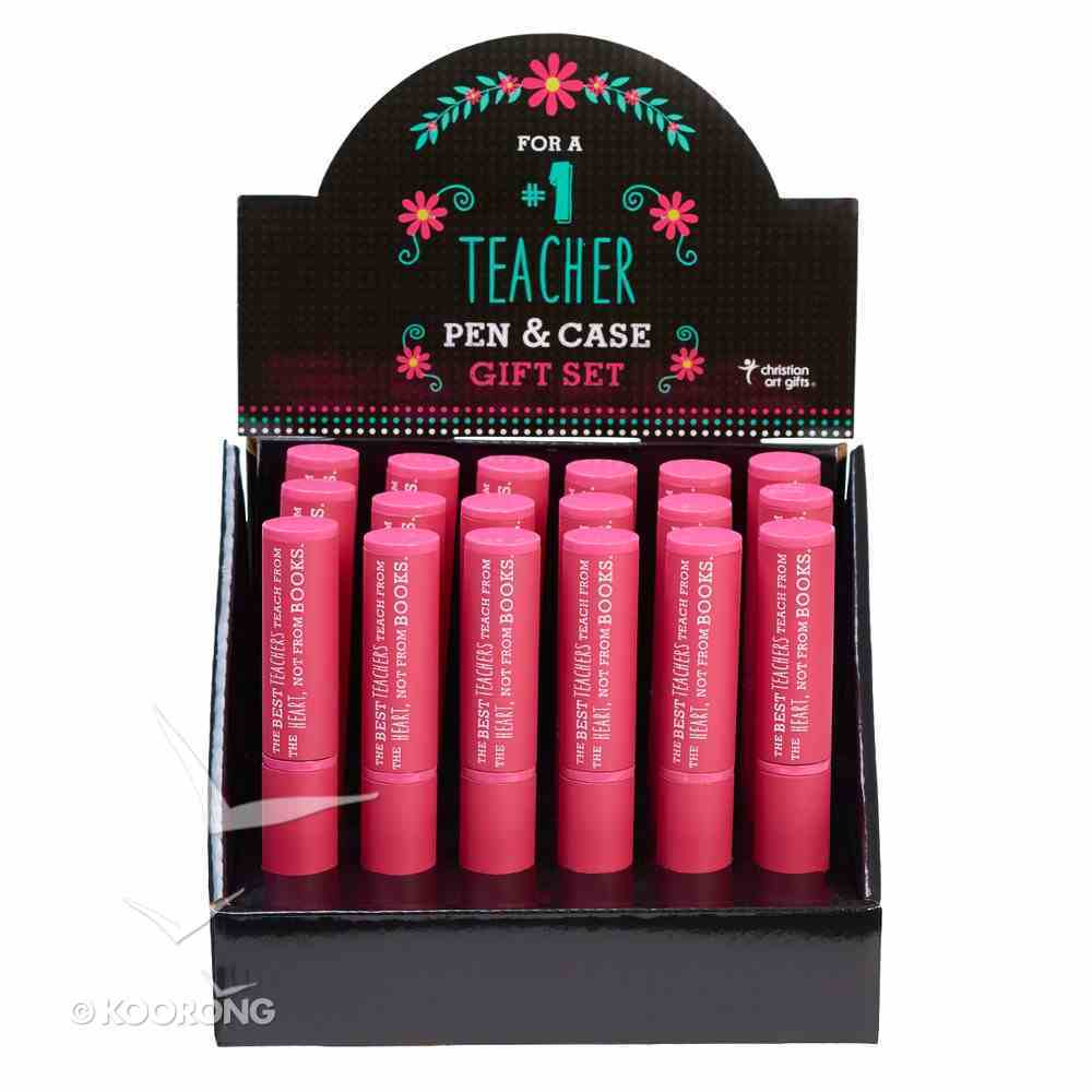 Stylish Pen/Case Gift Set: The Best Teachers Teach From the Heart, Not From Books (Pink) Stationery