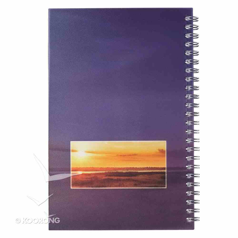 Notebook: My Bible Study Notes, Sunset Spiral