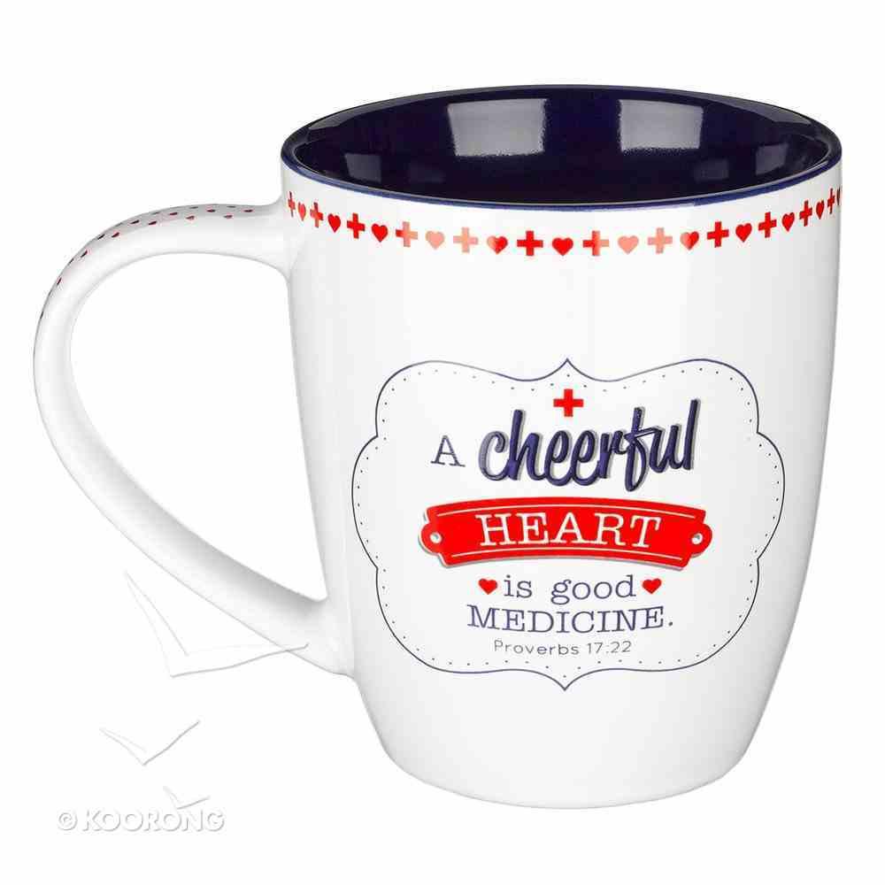 Ceramic Mug: A Cheerful Heart.... I Can Do All Things (Phil 4:13) Homeware