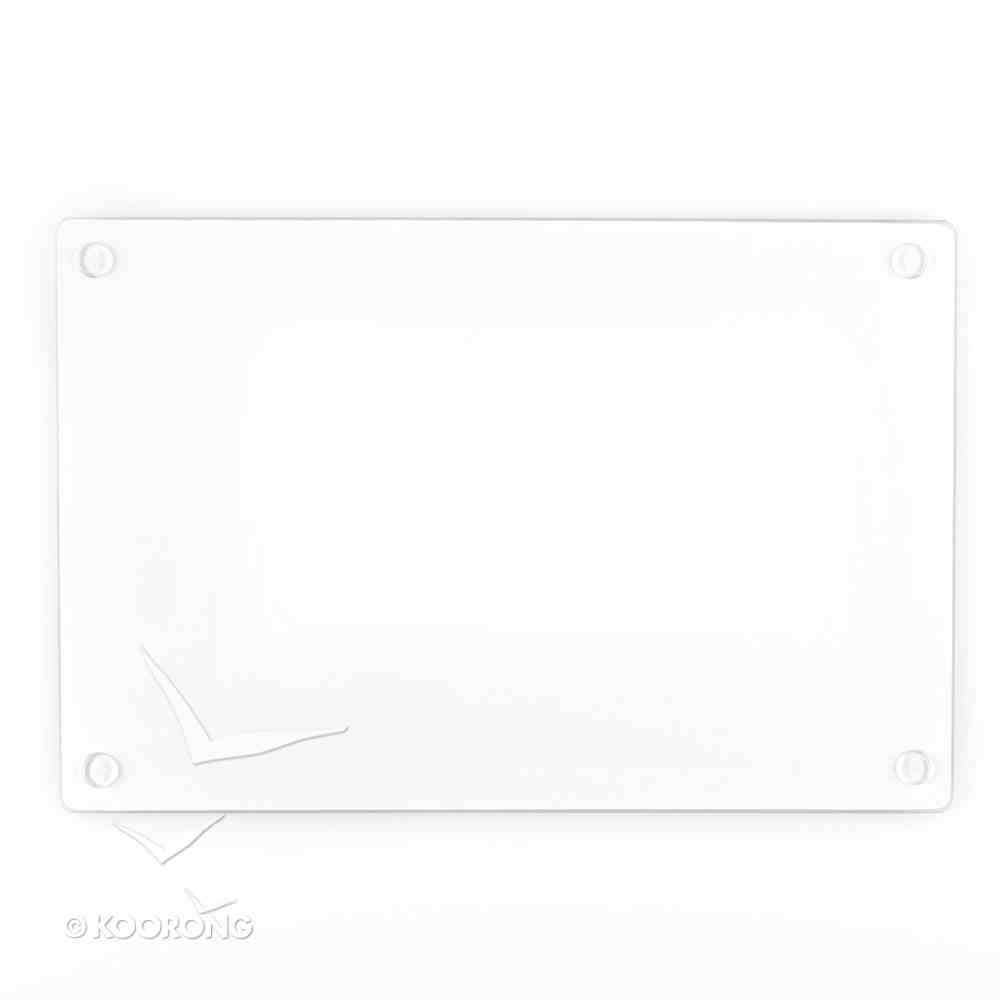 Medium Glass Cutting Board: Serve in Love (Gal 5:13) Homeware