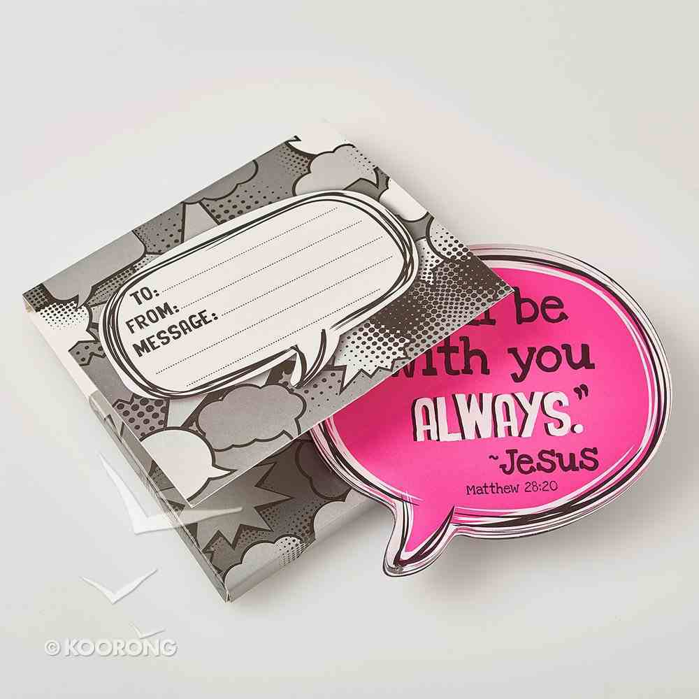Acrylic Bubble Magnet: I'll Be With You Always - Jesus Novelty