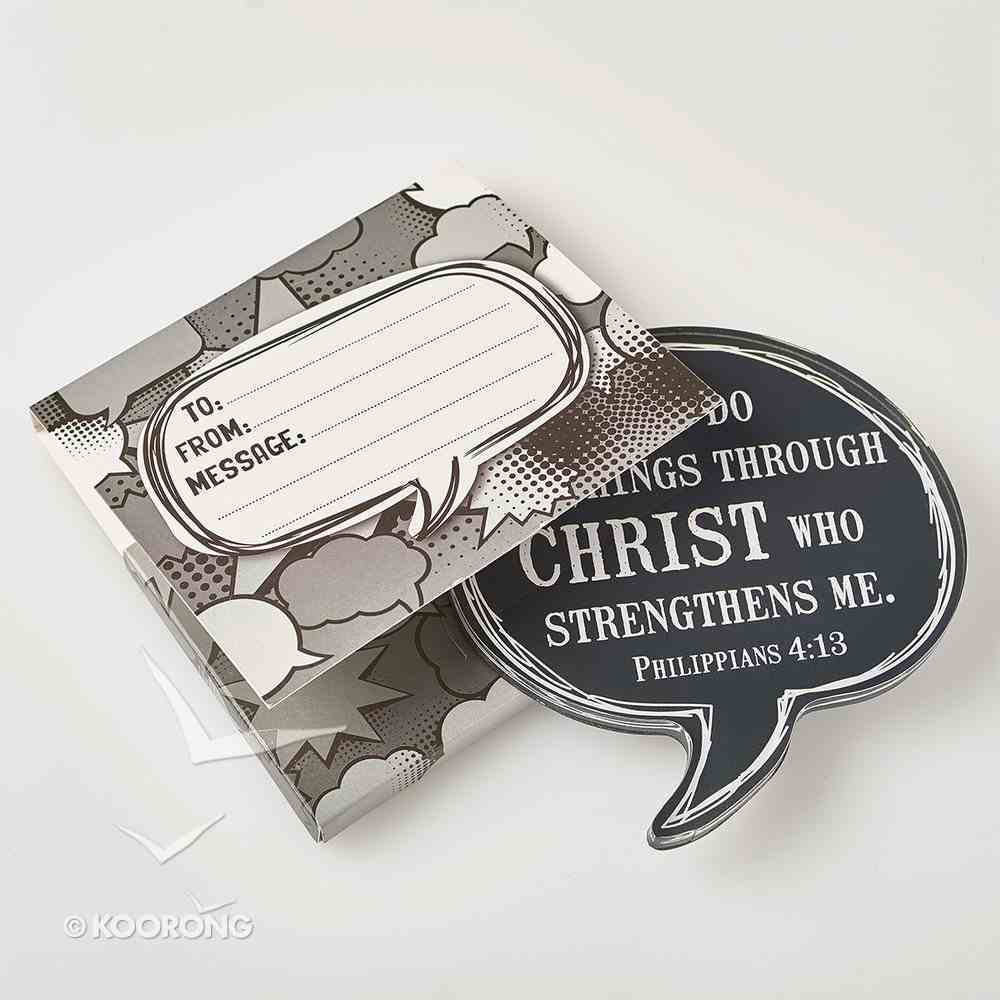 Acrylic Bubble Magnet: I Can Do All Things Through Christ Novelty