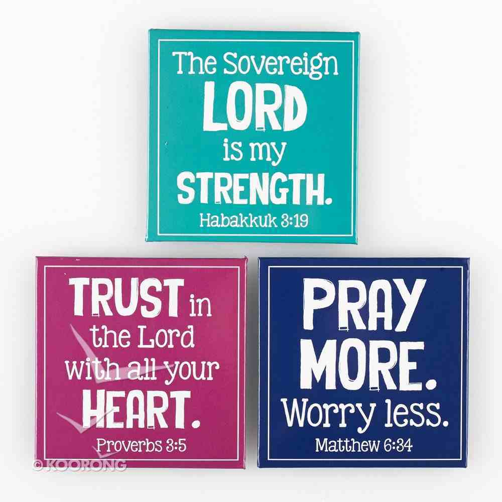 Magnet Set of 3: Sovereign Lord (Hab 3:19) Novelty