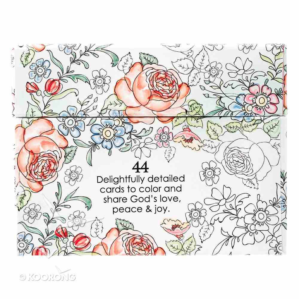 Adult Boxed Coloring Cards: Colorful Blessings Box