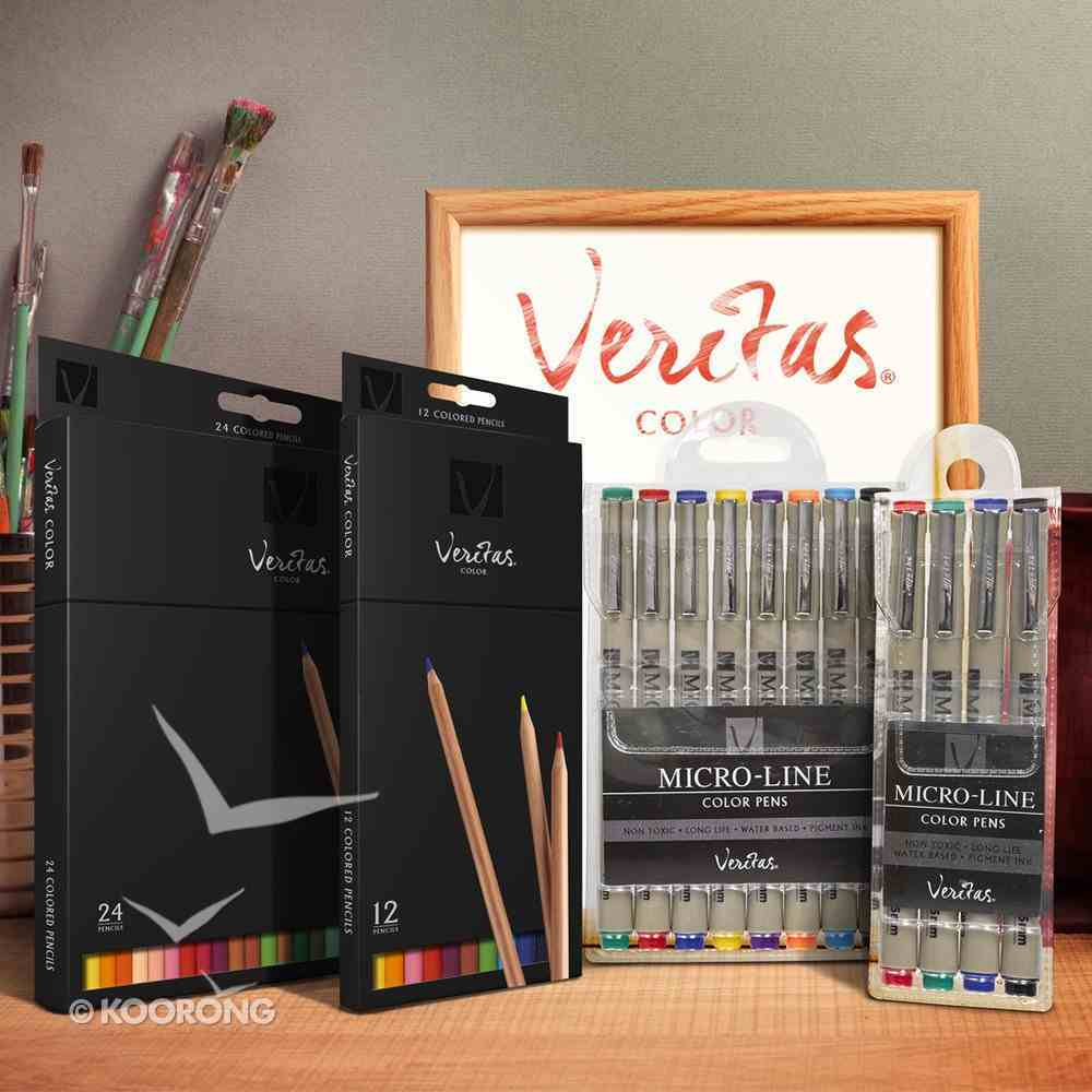 Veritas Micro-Line Color Pens 4 Set (Black, Blue, Green & Red) Stationery