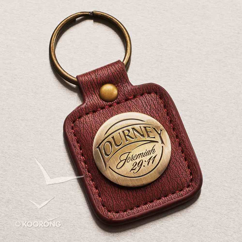 Metal Keyring in Tin: Journey, Jeremiah 29:11 Novelty