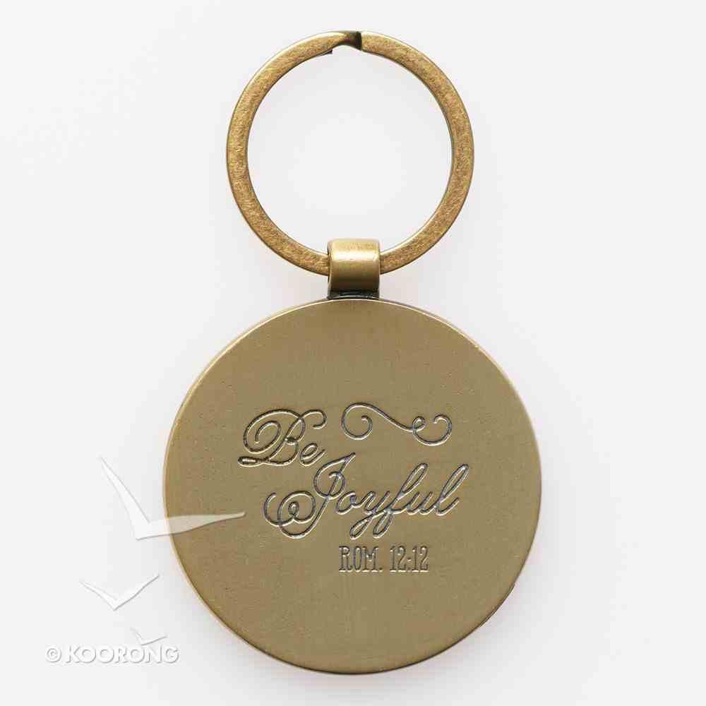 Keyring in Tin: Joy Rom 12:12 (Colored Wreath) Jewellery