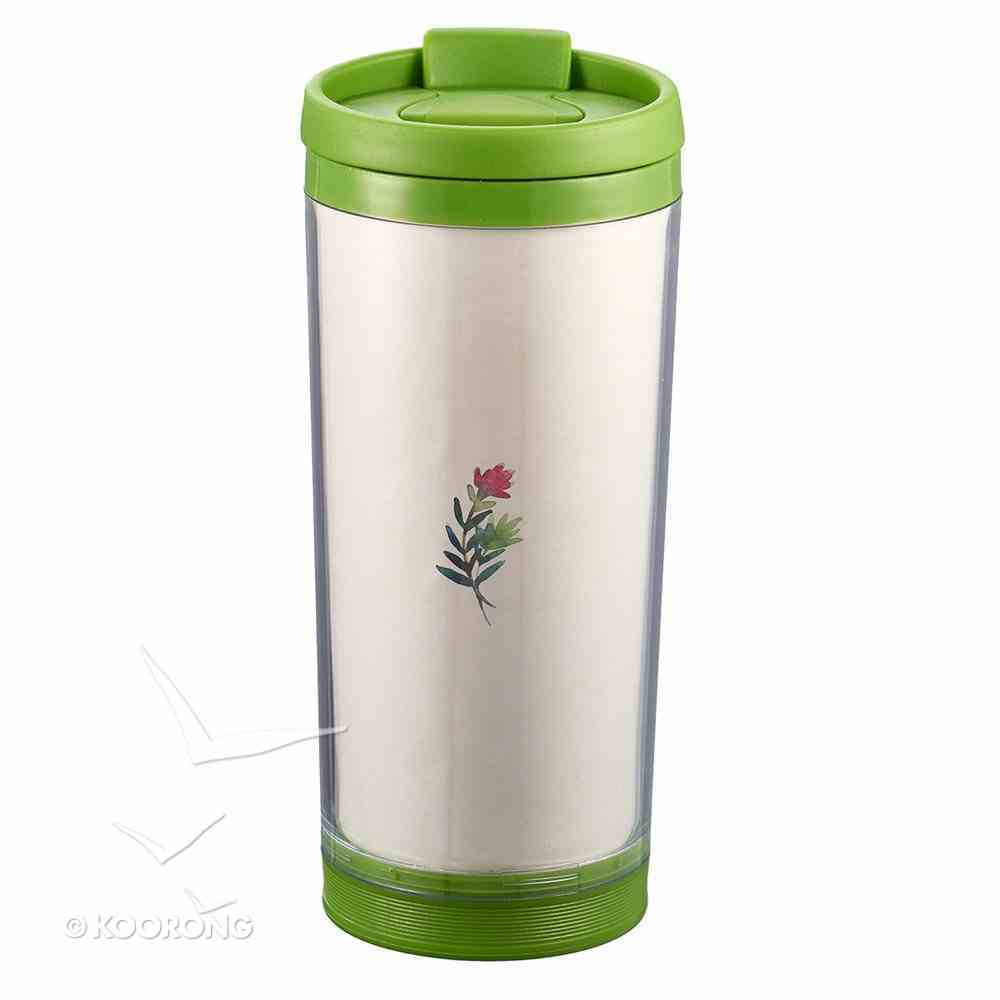 Polymer Mug With Design Insert: I Can Do All This, Colored Wreath (Lime Green/white) Homeware