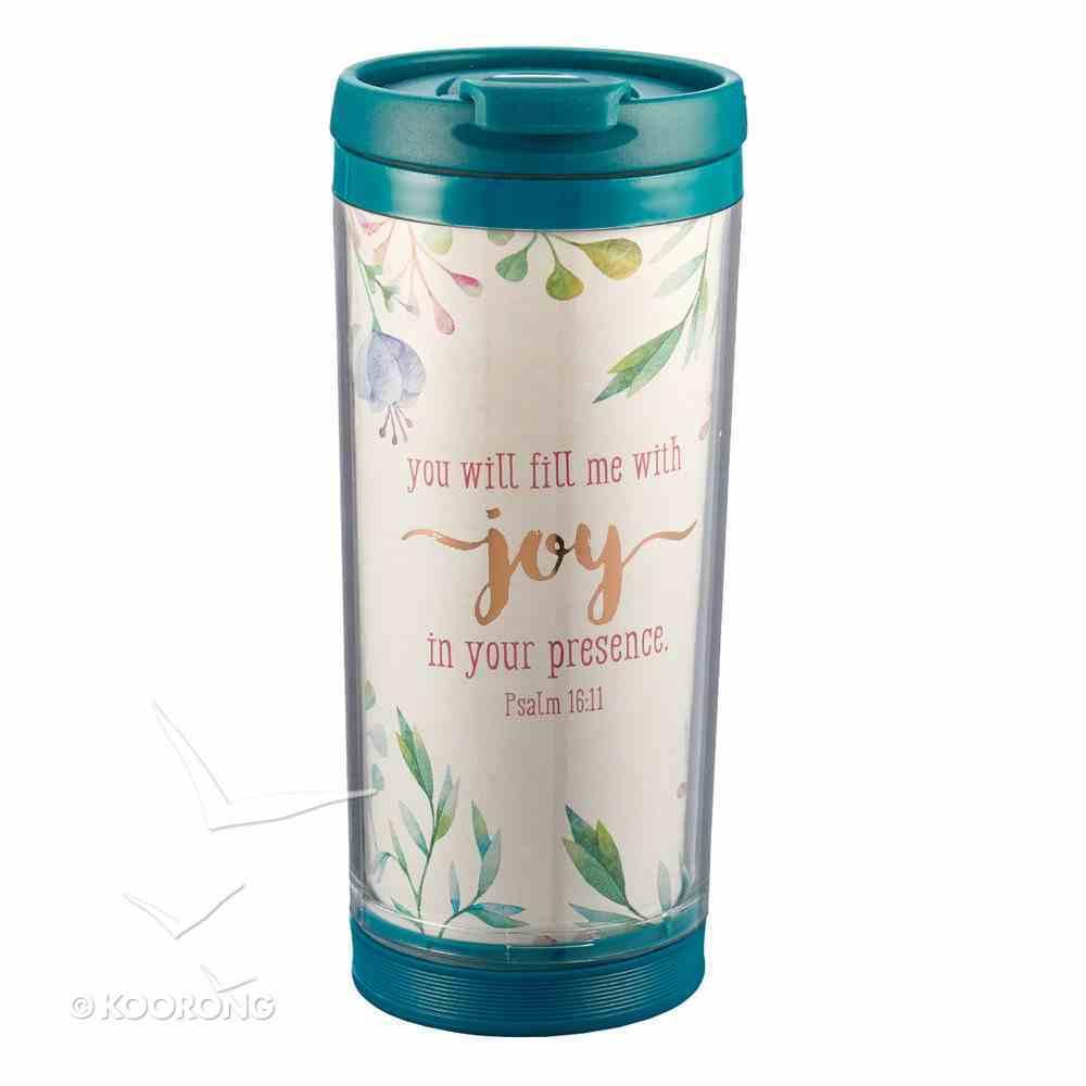 Polymer Mug With Design Insert: Joy in Your Presence... (Dark Blue/white) Homeware