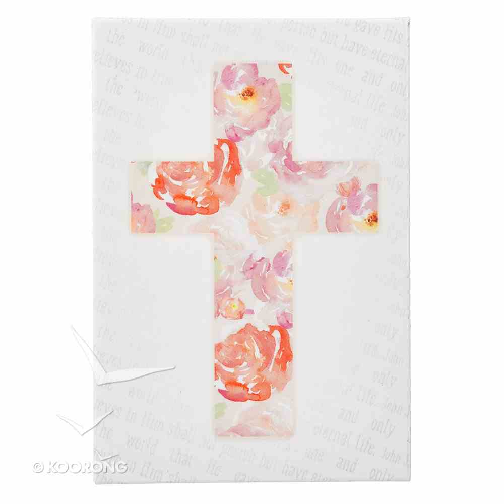 Magnet With a Message: Floral Cross Novelty