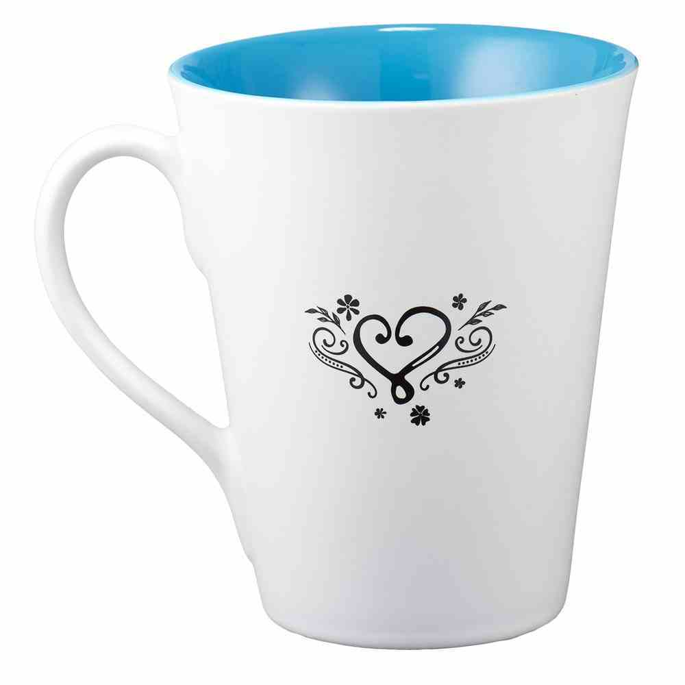 Stoneware Mug: Be Still and Know That I Am God (White/blue) Homeware