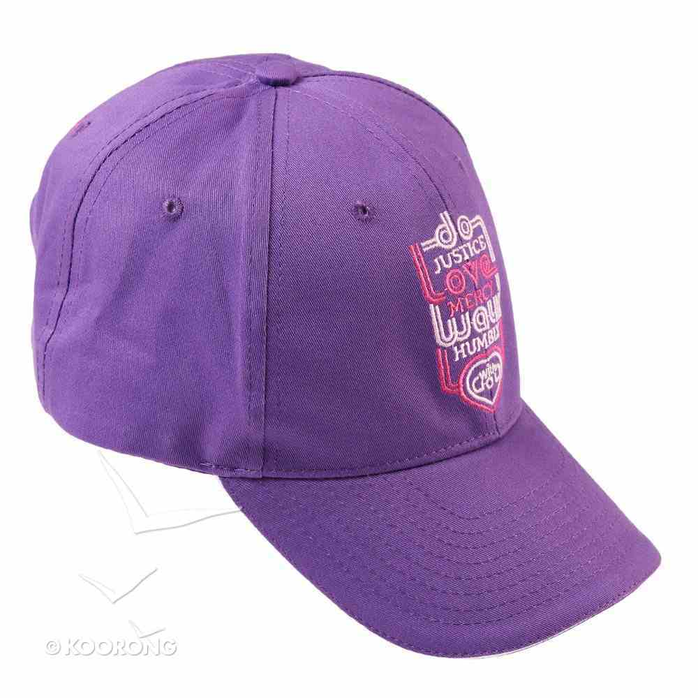 Baseball Cap: Do Justice, Love Mercy, Walk Humbly With God Soft Goods