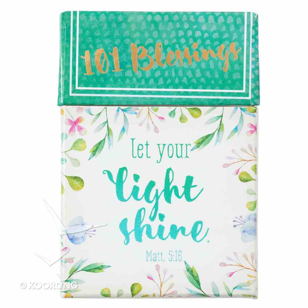 Box of Blessings: 101 Blessings Let Your Light Shine, Floral Box
