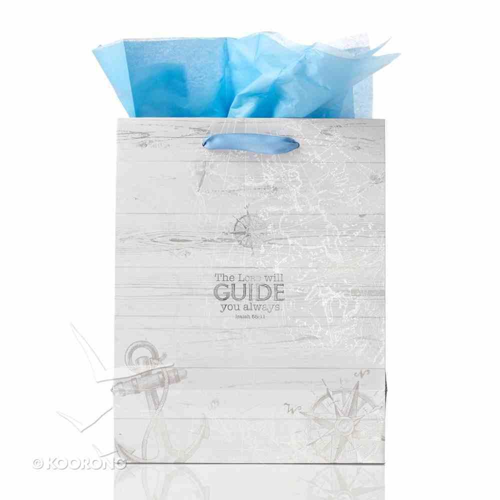 Gift Bag Medium: Travel Range, With Warmest Wishes (Blue/dark Blue/white) Stationery