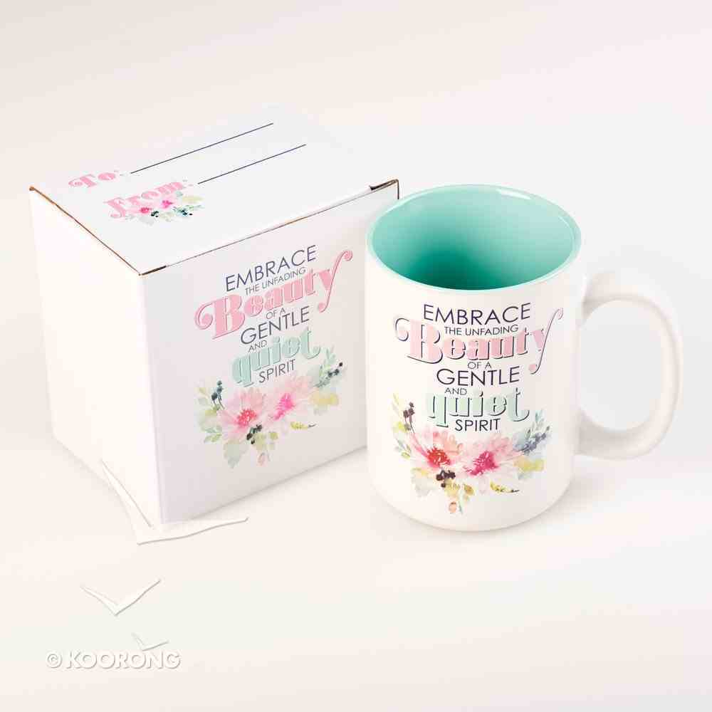 Ceramic Mug: Embrace the Unfading Beauty.... (Light Blue/white) Homeware