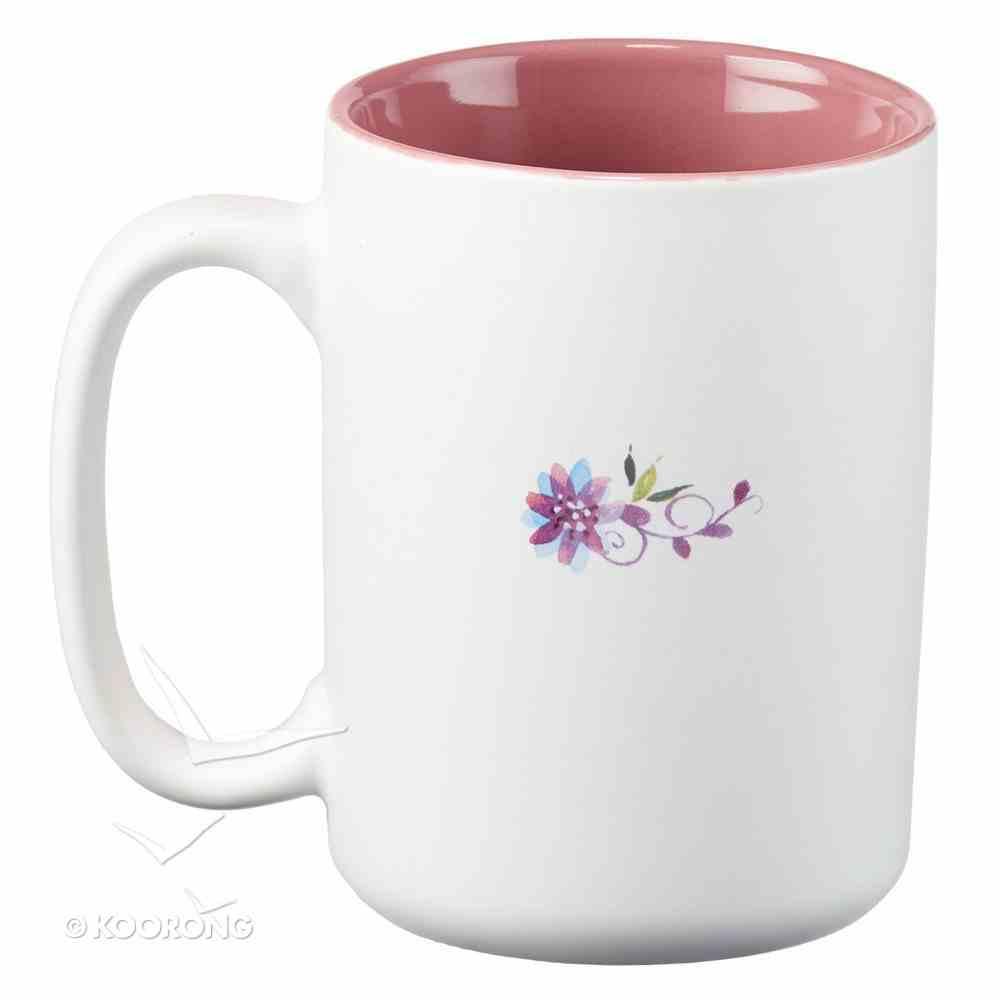 Ceramic Mug: Wear Love Everywhere You Go, (Light Pink/white) Homeware