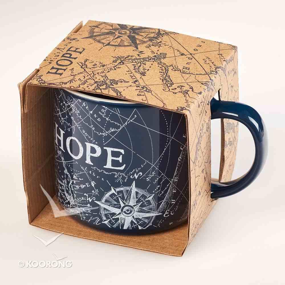 Ceramic Mug: Travel Range, Hope/Compass (Dark Blue/white) Homeware