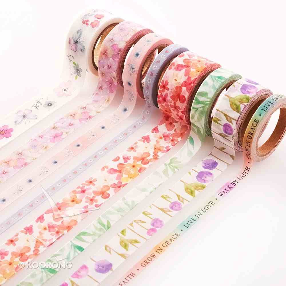 Washi Tape Set 8pc: Floral Stationery