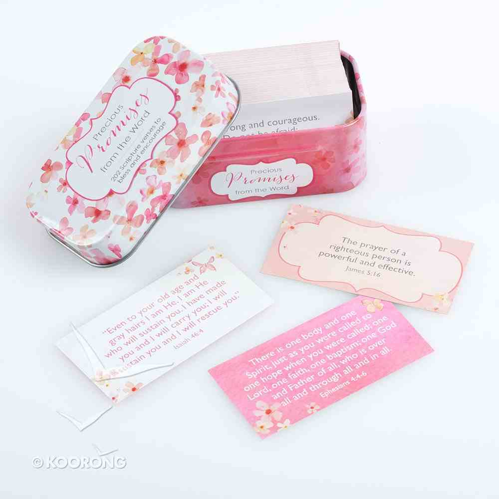 Sing For Joy Cards in Tin: Precious Promises (Pale Orange/floral) Stationery
