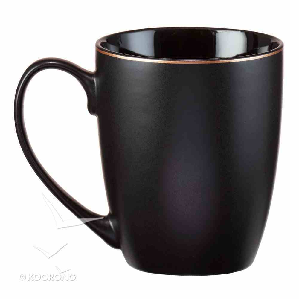 Ceramic Mug: Be Still & Know....Black, Saved By Grace (355ml) Homeware