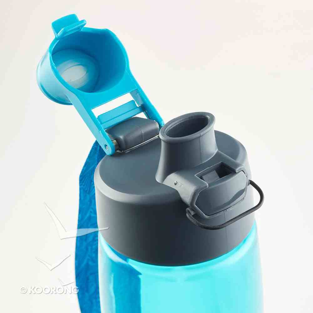 Water Bottle Blue: May He Give You the Desire of Your Heart (Psalm 20:4) Homeware