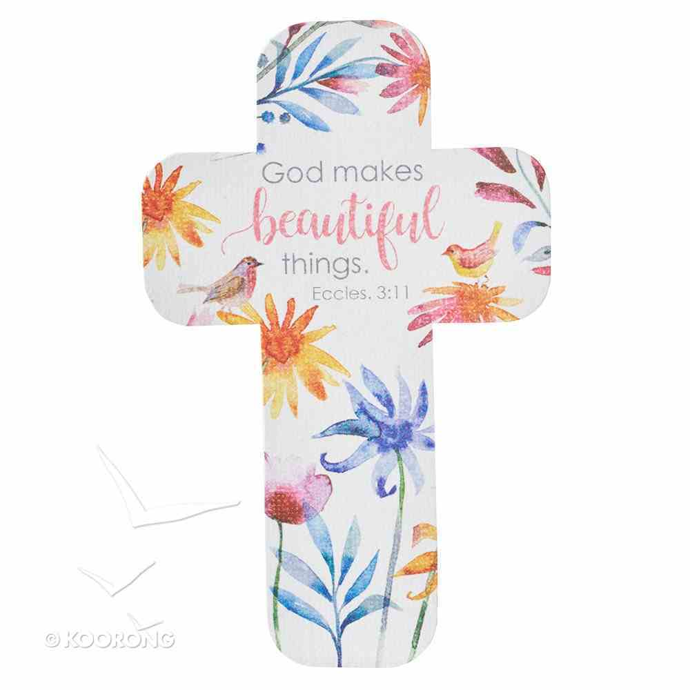 Bookmark Cross-Shaped: God Makes Beautiful Things... Eccles 3:11 (Colorful Floral) Stationery