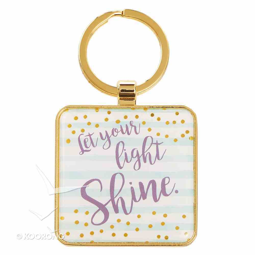 Metal Sparkle Keyring: Let Your Light Shine (Turquoise) (Matthew 5:16) Jewellery