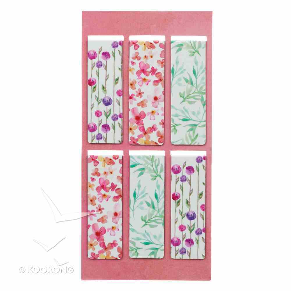 Bookmark Magnetic: Sing For Joy (Floral) (Set Of 6) Stationery