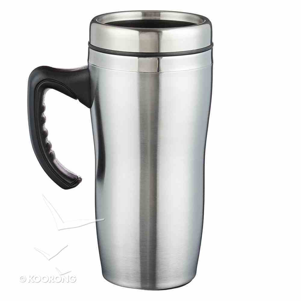 Stainless Steel Travel Mug With Handle: Blessed Homeware