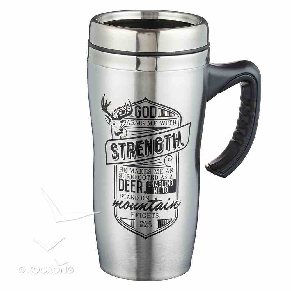 Stainless Steel Travel Mug With Handle: Strength Homeware