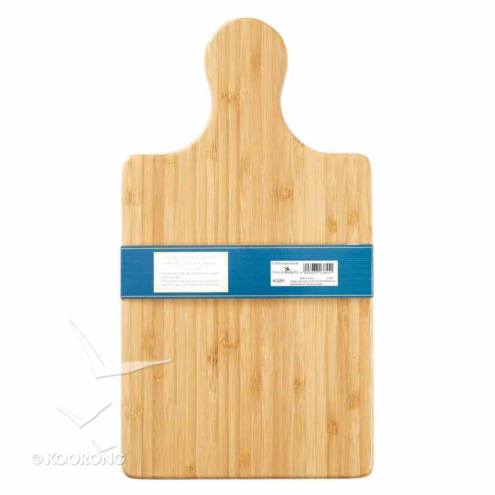 Bamboo Small Wooden Cutting Board: Bless the Food Before Us.... Homeware