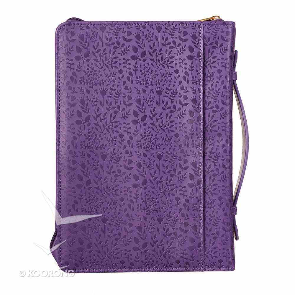 Bible Cover I Can Do All This Phil 4: 13, Large, Purple Floral Bible Cover