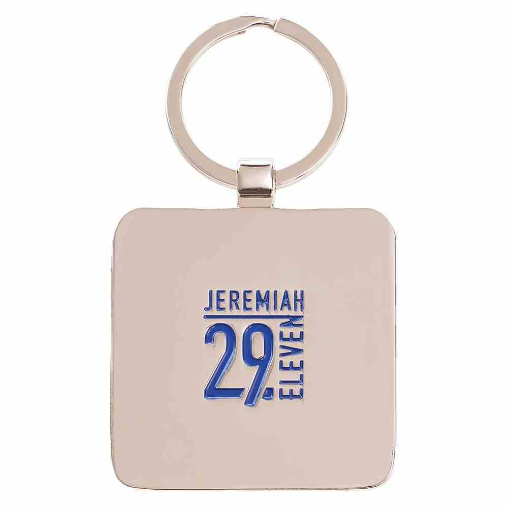 Metal Keyring: Graduation, Hope & Future Navy/Light Blue (Jer 29:11) Jewellery
