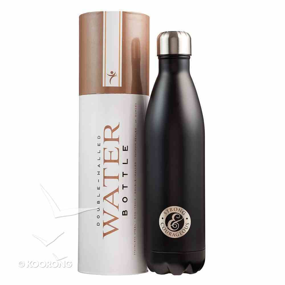Water Bottle 750ml Stainless Steel: Father's Day, Strong & Courageous Homeware