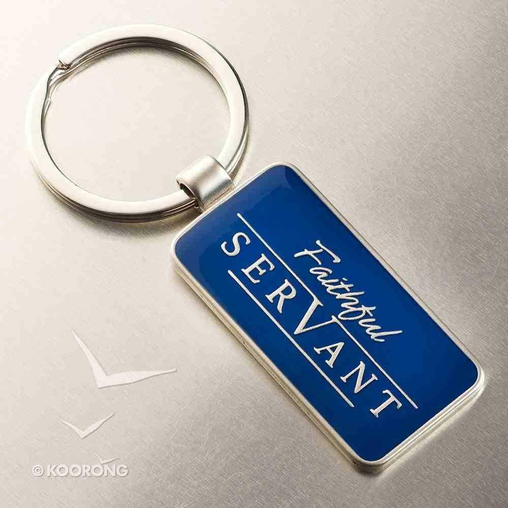 Metal Keyring: Faithful Servant (Navy/silver) Jewellery