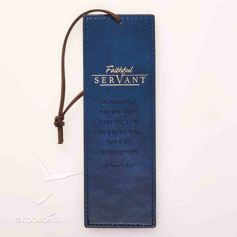 Bookmark: Faithful Servant (Navy/brown) Stationery