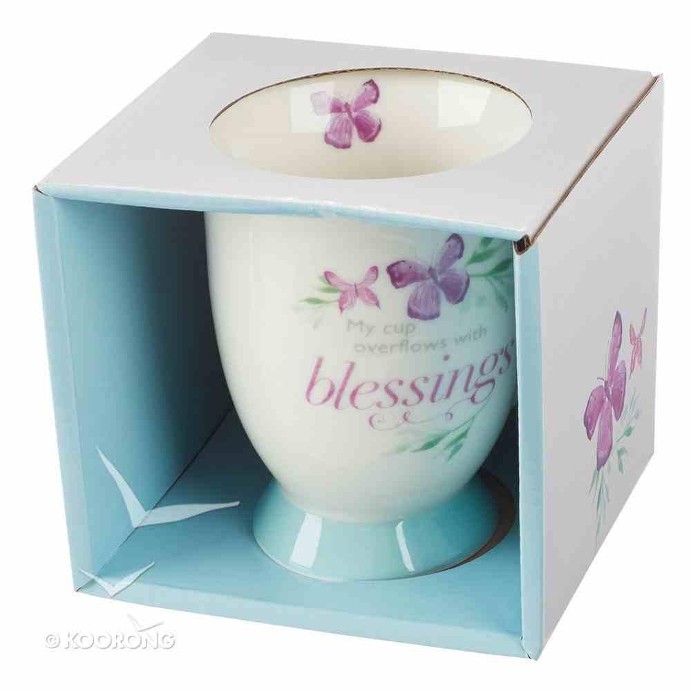 Ceramic Mug Sing For Joy: Blessings (Pale Green/floral/white) Homeware