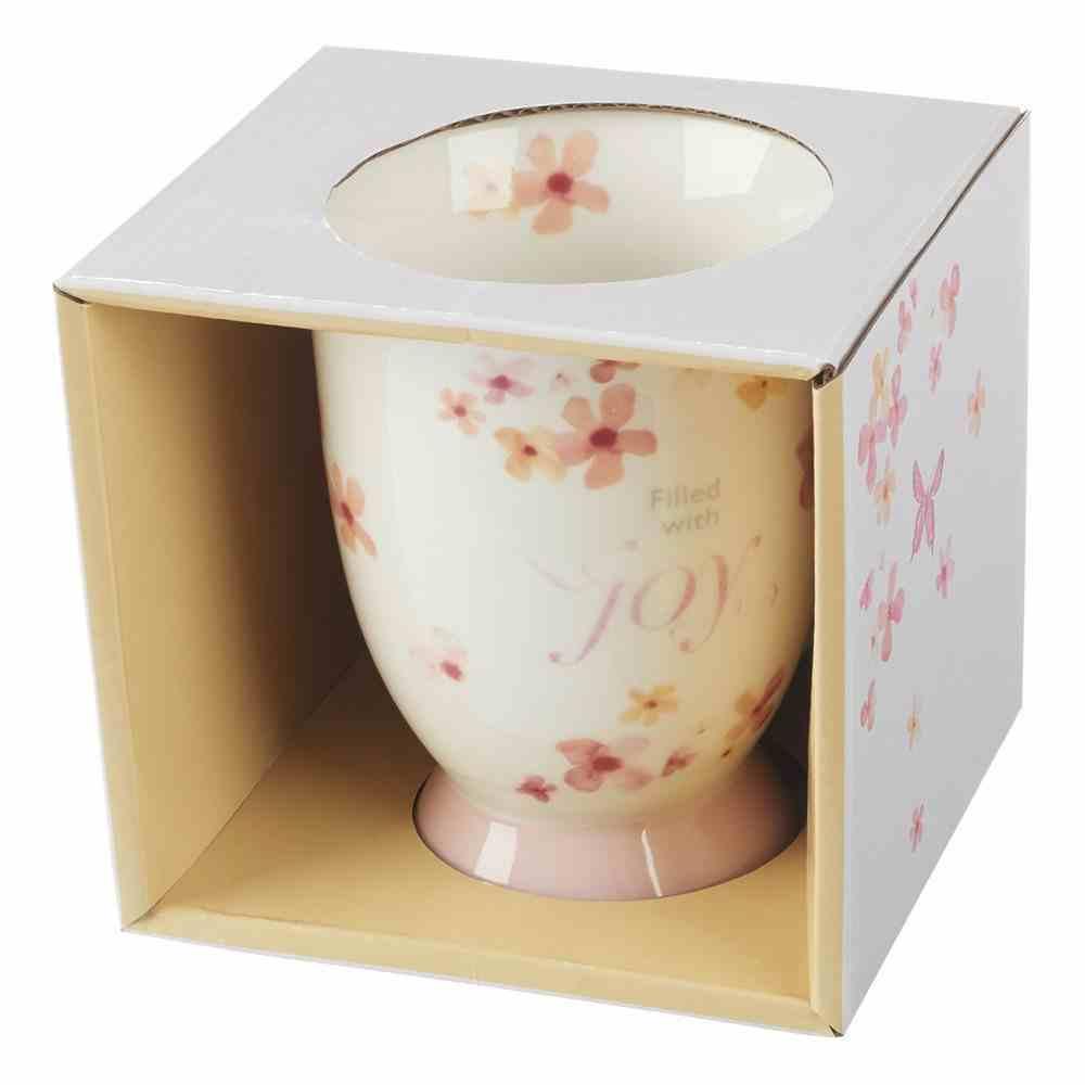 Ceramic Mug Sing For Joy: Joy (Orange/floral/white) Homeware
