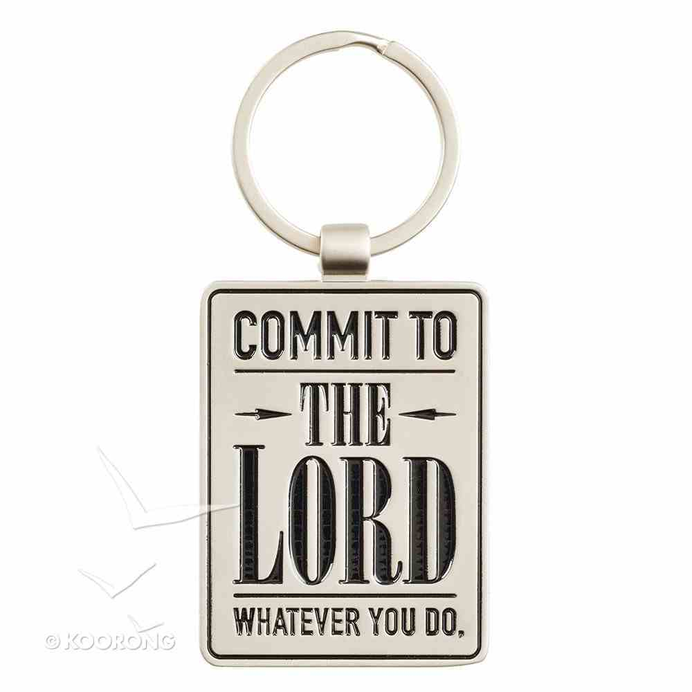 Metal Keyring: Graduation, Commit to the Lord... (Prov 16:3) Jewellery
