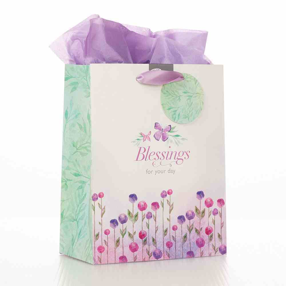 Gift Bag Large Sing For Joy: Blessings (Pale Green/floral) Stationery