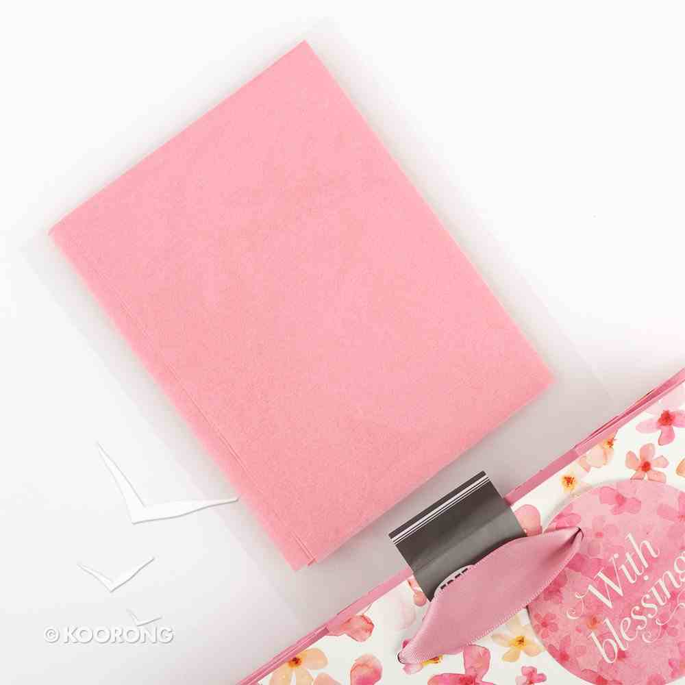 Gift Bag Medium Sing For Joy: Cherished Wishes (Pale Pink/orange/floral) Stationery