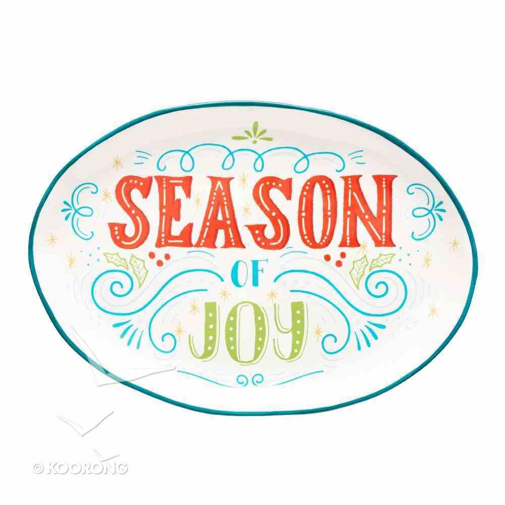 Christmas Ceramic Serving Plate: Season of Joy Homeware