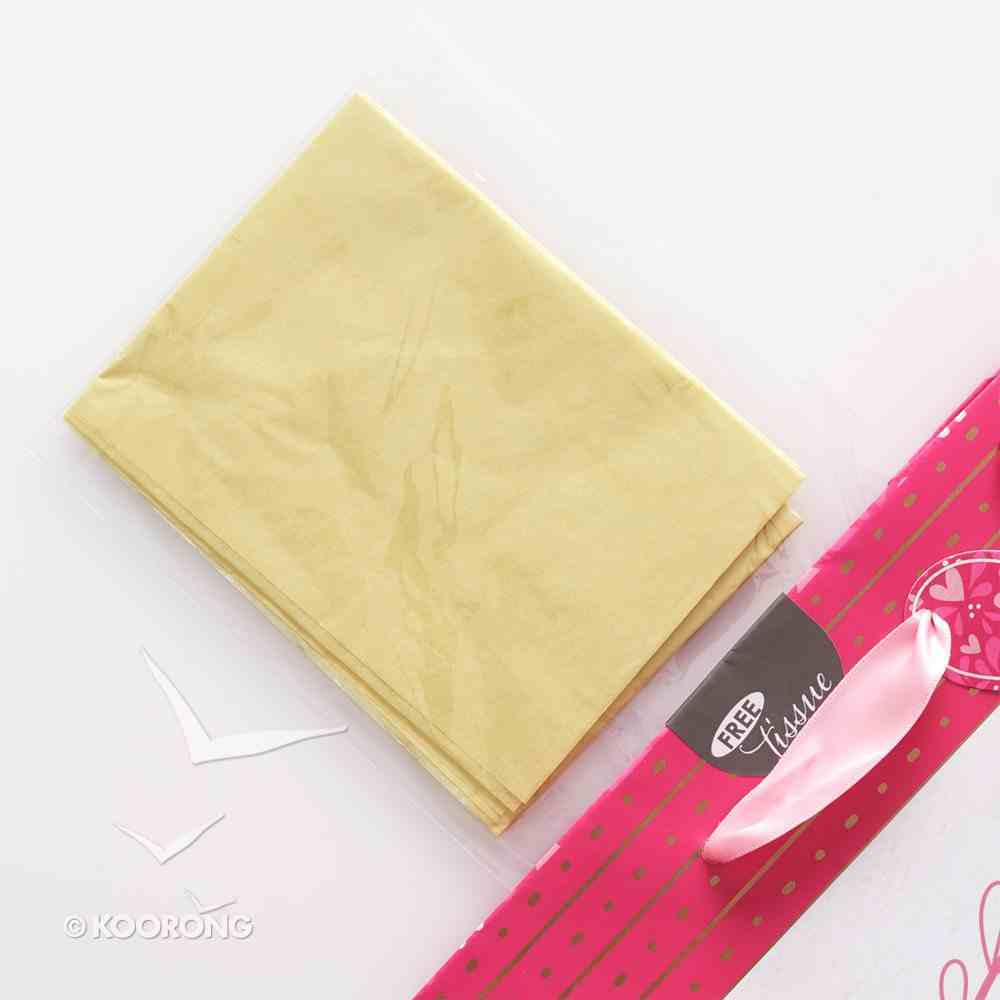 Gift Bag Medium: You Are Loved, Incl Tissue Paper, Satin Ribbon Handles & Gift Tag Stationery